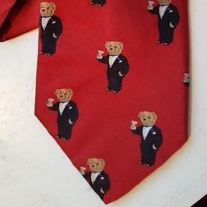 Polo Ralph Lauren Teddy Bear Martini Tie